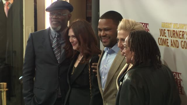 samuel l. jackson, julianne moore, anthony anderson, edie falco and s. epatha merkerson at the opening night of august wilson's 'joe turner's come... - anthony anderson stock videos & royalty-free footage