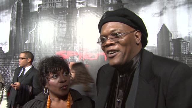 Samuel L Jackson on his character at the 'The Spirit' Premiere at Los Angeles CA