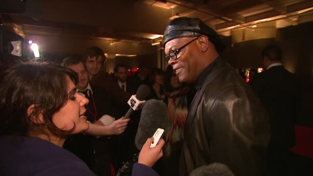 Samuel L Jackson on his character getting in touch with his female side at the UK Spirit launch party arrivals at London