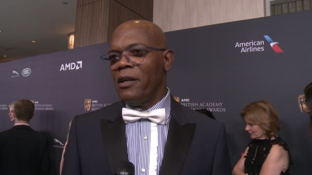 INTERVIEW Samuel L Jackson on receiving the Albert R Broccoli Britannia Award for Worldwide Contribution to Entertainment at 2016 AMD British Academy...