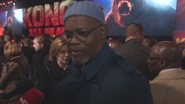 INTERVIEW Samuel L Jackson on the film being at the Oscars Liverpool losing to Leicester City at 'Kong Skull Island' European Premiere at Cineworld...