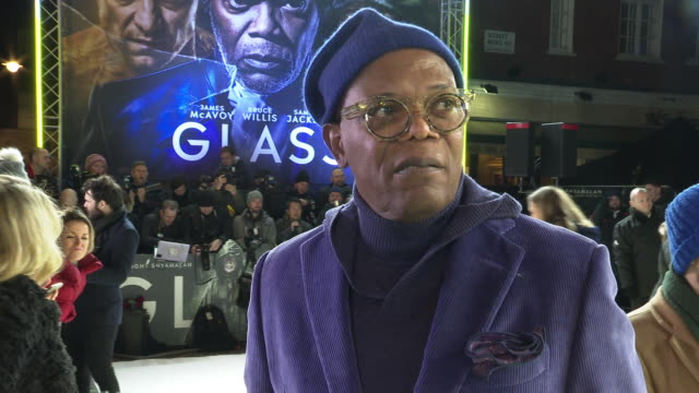 INTERVIEW Samuel L Jackson on the reasons he still acts and what he values about his current career at 'Glass' European Premiere at The Curzon...