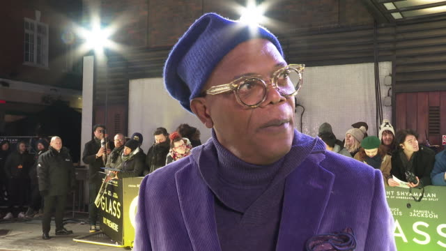 INTERVIEW Samuel L Jackson on working with M Night Shyamalan and how he has watched his mature and grow at 'Glass' European Premiere at The Curzon...