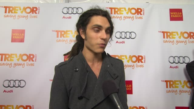 samuel larsen on why he supports the trevor project what he is most looking forward to and why katy perry is deserving of the trevor hero award at... - the trevor project stock videos and b-roll footage