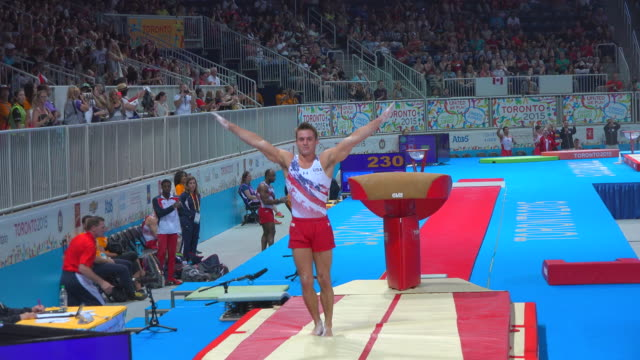 samuel mikulak the 2015 pan american games officially the xvii pan american games were a major international multisport event celebrated with great... - one young man only stock videos & royalty-free footage