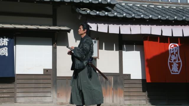 samurai - yukata robe stock videos & royalty-free footage