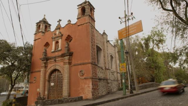san antonio de padua chapel in coyoacan - chapel stock videos & royalty-free footage