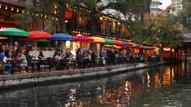 san antonio river walk canal - texas stock videos & royalty-free footage