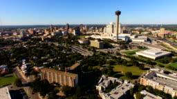 San Antonio Skyline Aerial Panoramic South Central Texas