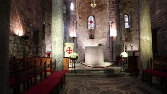 San Cataldo church, interior view of the altar in the apse, Palermo, Sicily.