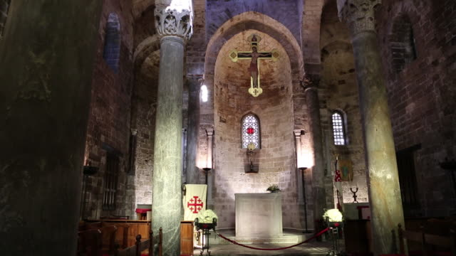 san cataldo church, interior view of the altar in the apse, palermo, sicily. - apse stock videos & royalty-free footage