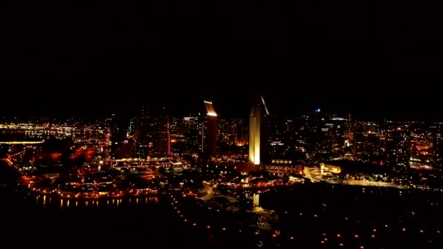 vidéos et rushes de san diego 30 minutes after sunset - san diego