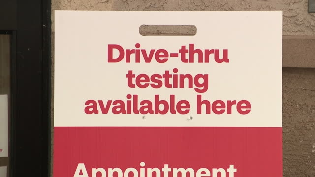 san diego, ca, u.s. - a drive-thru coronavirus testing signs outside a cvs pharmacy store on tuesday, september 15, 2020. - cvs caremark stock videos & royalty-free footage