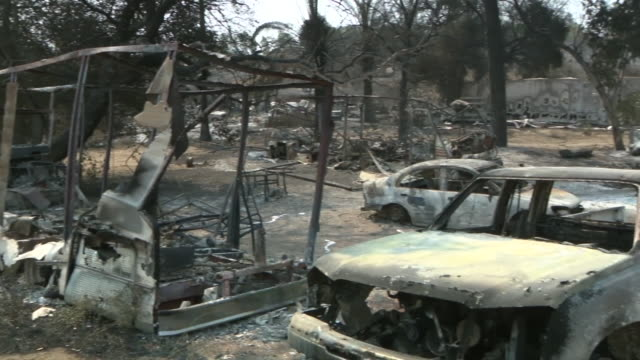 san diego, ca, u.s. - burnt cars after the valley fire on monday, september 6, 2020. cal fire said late sunday that the fire was burning near lawson... - destruction stock videos & royalty-free footage