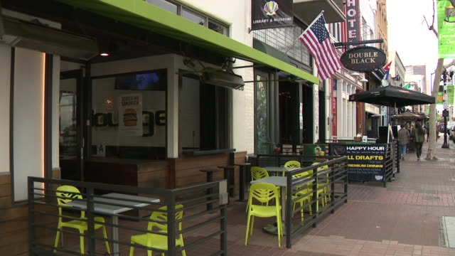 kswb – san diego ca us empty bars clubs and restaurants in downtown san diego on sunday march 15 2020 - restaurant stock videos & royalty-free footage