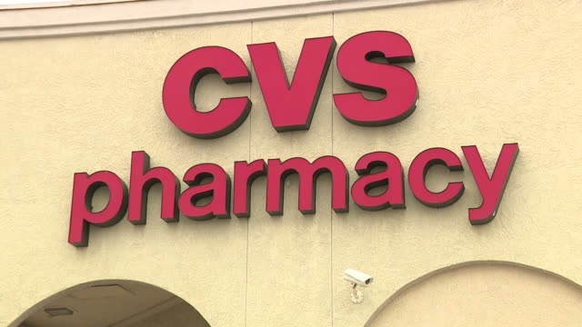 san diego, ca, u.s. - exterior of a cvs pharmacy store with a drive-thru coronavirus testing site on tuesday, september 15, 2020. - cvs caremark stock videos & royalty-free footage