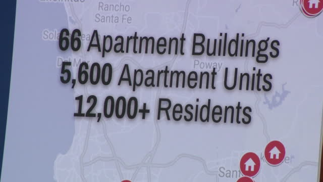 san diego, ca, u.s. - people gathering to protest the sale of nearly 6,000 apartments to a private equity firm, in national city, on thursday, july... - tenant stock videos & royalty-free footage