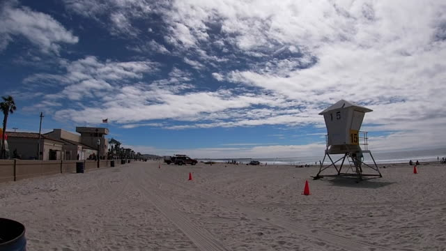 kswb san diego ca us people hanging out on beach during coronavirus outbreak on sunday march 22 2020 - lifestyles stock videos & royalty-free footage