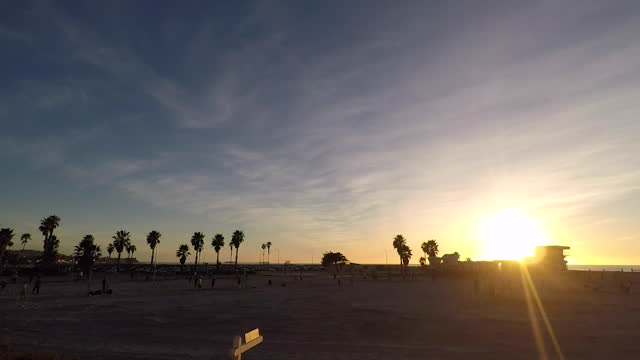 san diego, ca, u.s. - sun setting over beach, time lapse, on thursday, january 28, 2021. - dramatic sky stock videos & royalty-free footage