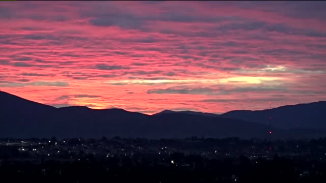 kswb san diego ca us sunrise sky with clouds over san diego on monday january 20 2020 - monday morning stock videos & royalty-free footage