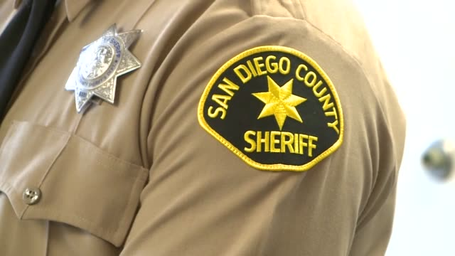 kswb san diego county sheriff's department closeup of badge - badge stock videos & royalty-free footage