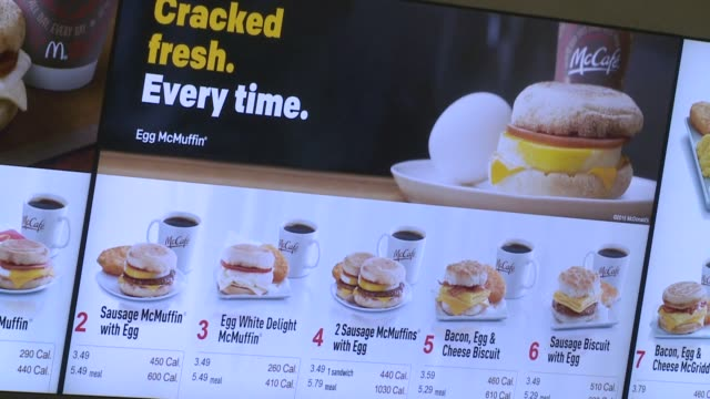kswb san diego mcdonald's previews allday breakfast on april 18 2015 nearly 100 mcdonald's locations throughout san diego will begin testing an... - mcdonald's stock videos & royalty-free footage