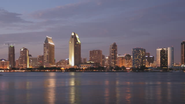 san diego skyline time lapse zoom - san diego stock videos & royalty-free footage
