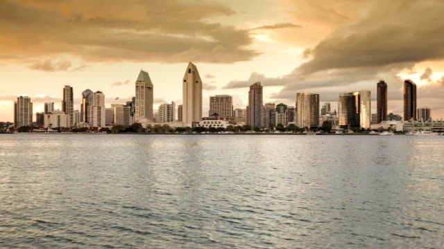 san diego skyline - san diego stock videos & royalty-free footage