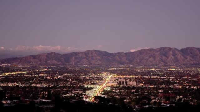 T/L, WS, HA, San Fernando Valley, day to night, Los Angeles, California, USA