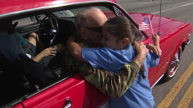 san fernando valley veterans day parade. - veterans day stock videos & royalty-free footage