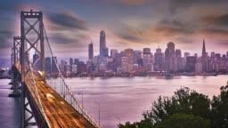 San Francisco and Oakland Bay Bridge