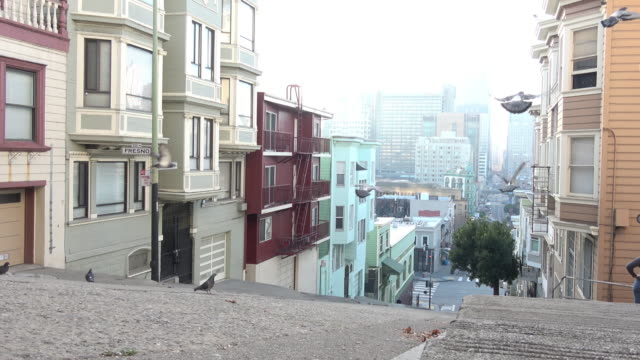 san francisco architecture -- new and old - victorian stock videos & royalty-free footage