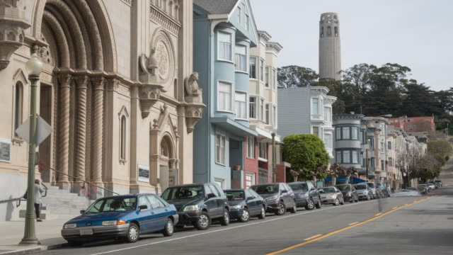 san francisco architecture - north beach san francisco stock videos and b-roll footage