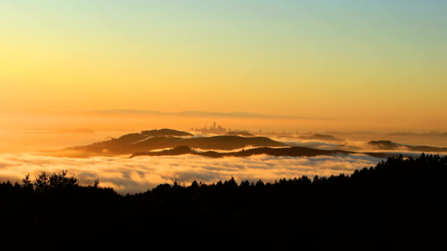 San Francisco bay at sunrise