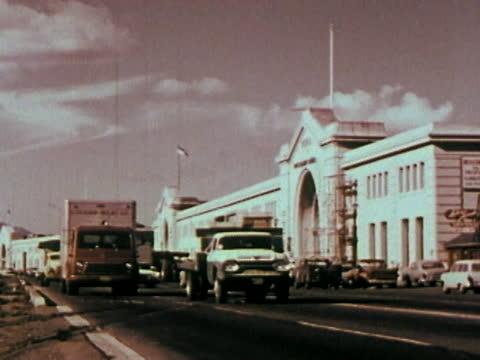 1963 san francisco - bay bridge - san francisco oakland bay bridge stock videos & royalty-free footage
