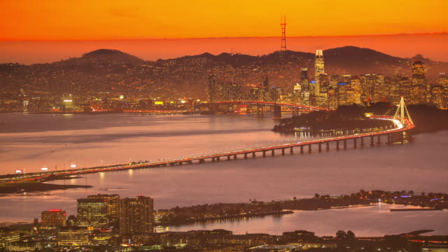 san francisco bay, ca: view from oakland - oakland california stock videos & royalty-free footage