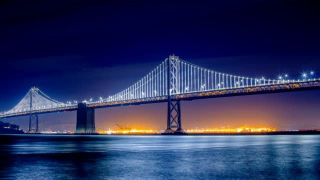 san francisco, ca: bay bridge - san francisco oakland bay bridge stock videos and b-roll footage