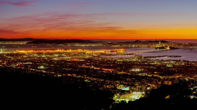 サンフランシスコ、カリフォルニア湾サンセット - フェリービルディング点の映像素材/bロール