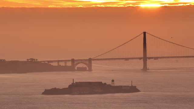 san francisco, ca bay sunset - san francisco ferry building stock videos & royalty-free footage
