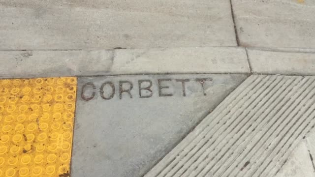 san francisco's department of public works marked the geological center of the city with a brass marker on the 700 block of corbett avenue near... - brass stock videos & royalty-free footage