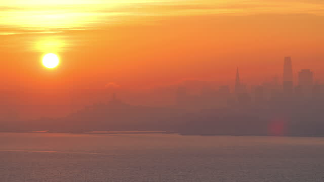 san francisco, ca: sunrise - northern california stock videos & royalty-free footage