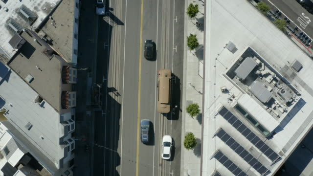 san francisco cable car aerial view 3 - coit tower stock videos & royalty-free footage