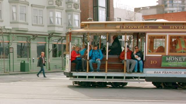 san francisco cable car - san francisco california stock videos & royalty-free footage
