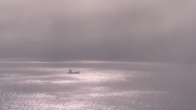 San Francisco, CaliforniaBoat through fog