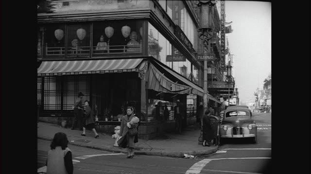 stockvideo's en b-roll-footage met 1946 san francisco chinatown - winkelbord
