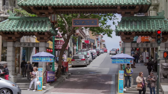 san francisco chinatown - arch architectural feature stock videos and b-roll footage
