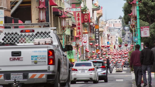 san francisco chinatown - chinatown stock videos & royalty-free footage