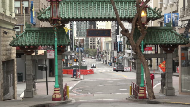 stockvideo's en b-roll-footage met san francisco chinatown zonder verkeer - san francisco california
