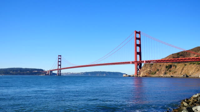 san francisco city-konzepte - golden gate bridge stock-videos und b-roll-filmmaterial