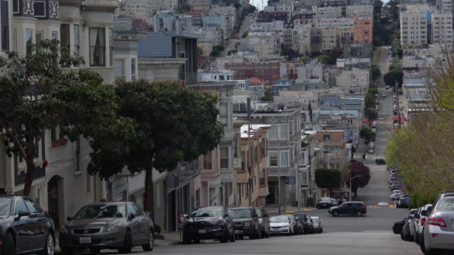 san francisco city street and architecture - north beach san francisco stock videos & royalty-free footage
